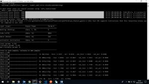 schermata di allenamento del bot